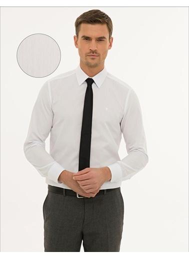 Pierre Cardin Erkek   Gömlek G021GL004.000.1214451.VR013 Beyaz